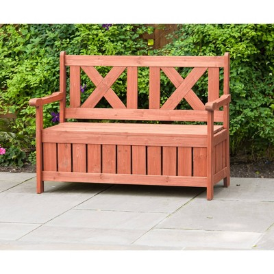 Bench With Storage - Brown - Leisure Season