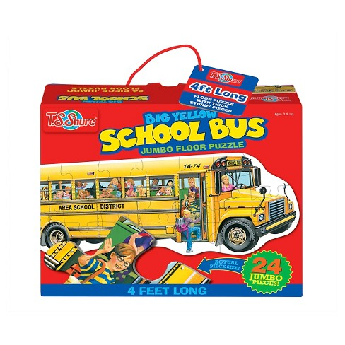 TS Shure Big Yellow School Bus Jumbo Floor Puzzle 24pc - image 1 of 2