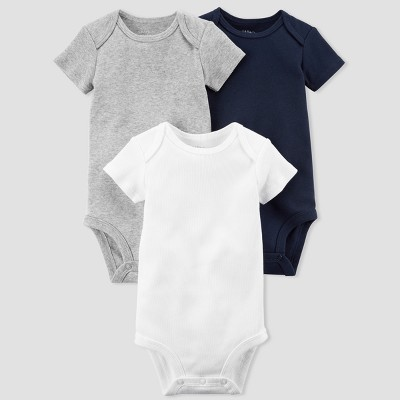Baby Boys' 3pk Bodysuit Set - little planet™ organic by carter's® Navy/Gray Newborn