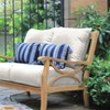 Abbington Teak Patio Loveseat with Cushion Beige - Cambridge Csual - image 2 of 2