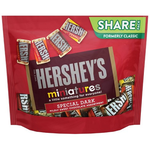Hershey's Dark Chocolate Miniatures Candy - 10.1oz - image 1 of 4