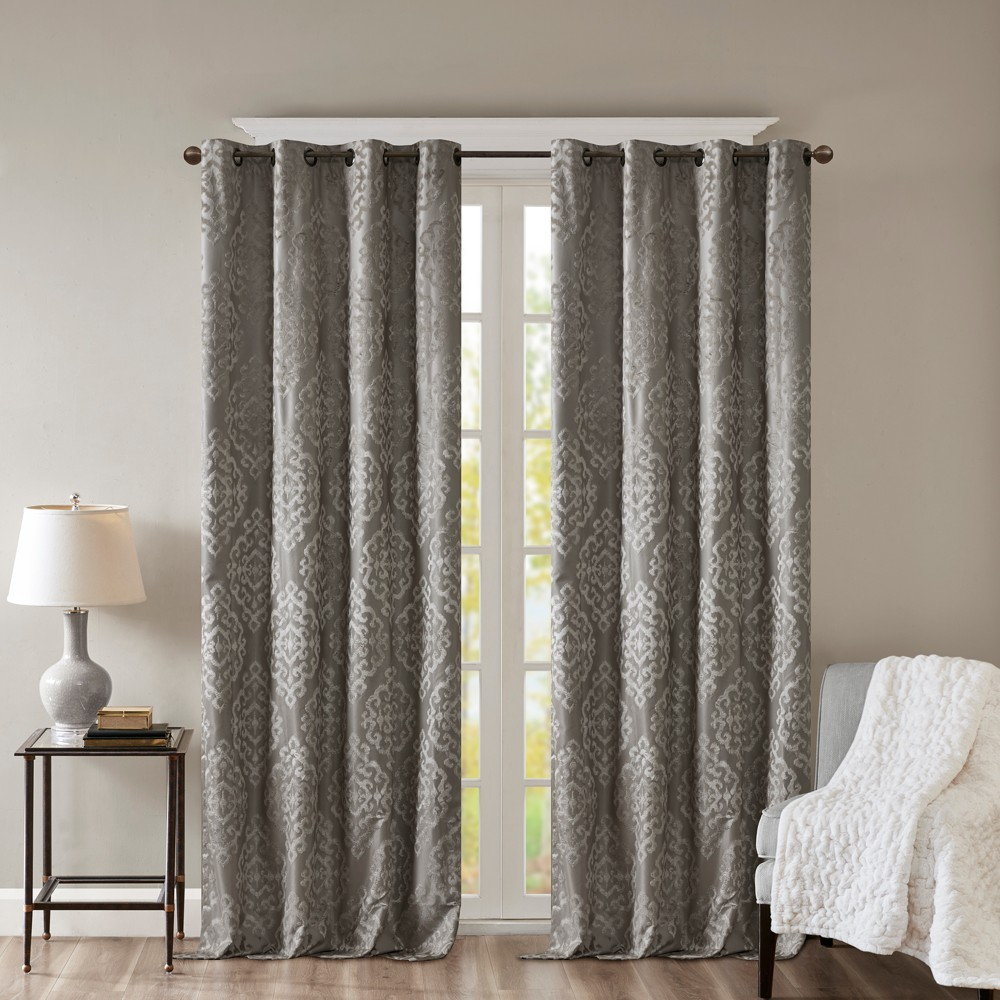 95 34 X50 34 Azalea Knitted Jacquard Total Blackout Panel Dark Gray