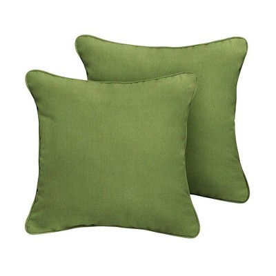 Sunbrella 2pk Outdoor Throw Pillows Cilantro