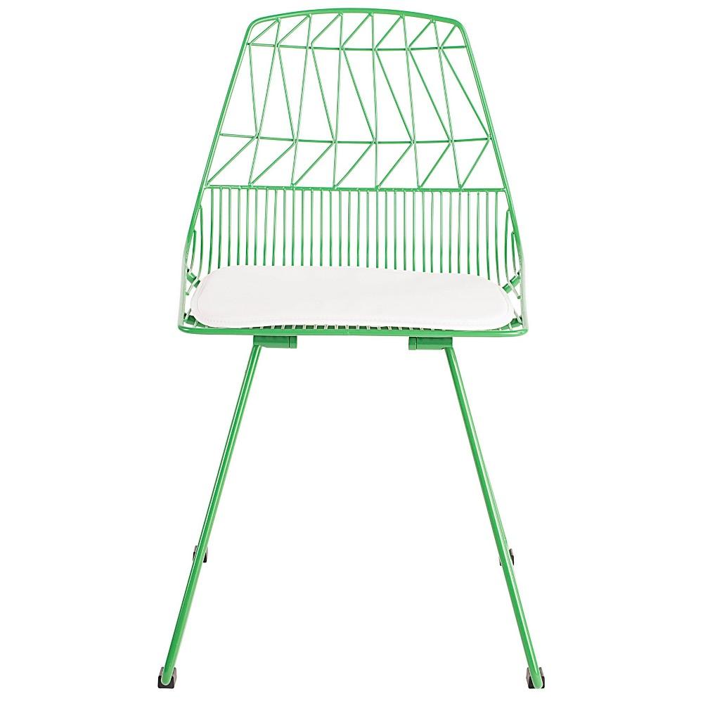 Vivi Metal Chair Set of 2 Green - Adore Decor