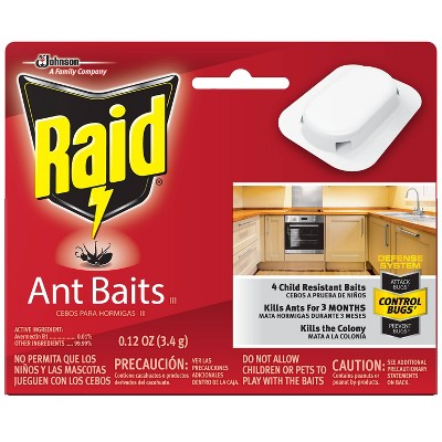 Raid Ant Baits III - 0.12oz/4ct