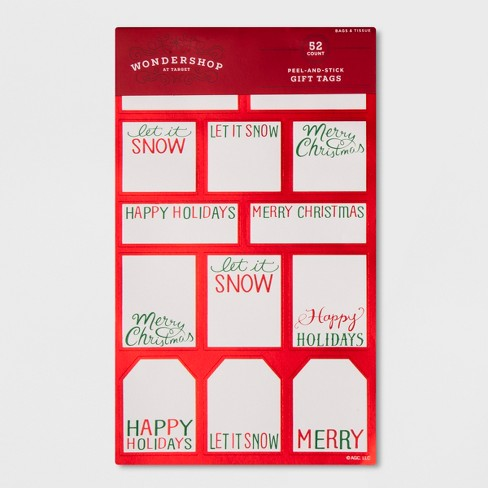 52ct peel stick holiday greetings gift tag set wondershop target about this item m4hsunfo