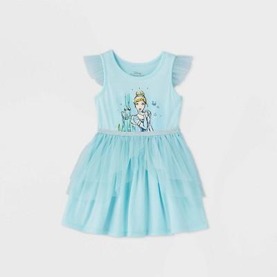 Toddler Girls' Disney Princess Sleeveless Cinderella Dress - Blue