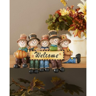 Lakeside Autumn Harvest Welcome Plaque - Scarecrows