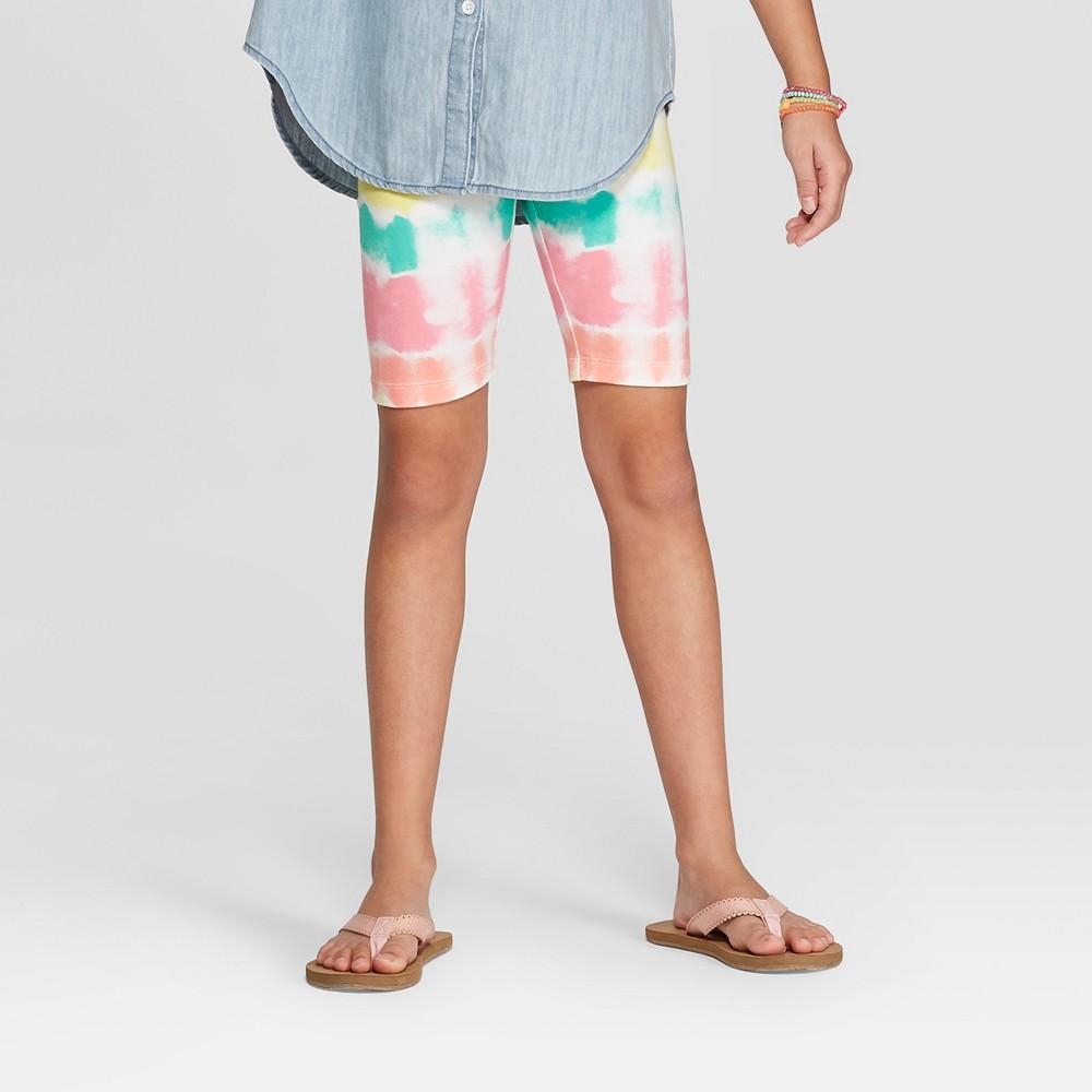 Girls' Bike Shorts - Cat & Jack Rainbow M