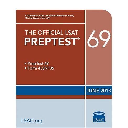 The Official LSAT Preptest 69 - (Official LSAT PrepTest) (Paperback) - image 1 of 1