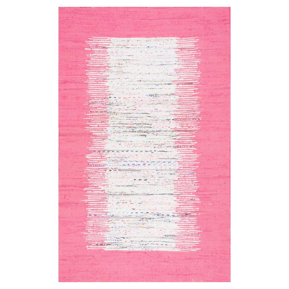 nuLOOM Cotton Flatweave Tasha Cotton Area Rug - Pink (4' x 6')