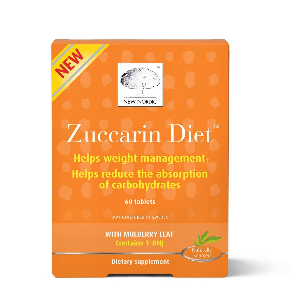 New Nordic Zuccarin Diet Tablets - 60ct, Adult Unisex