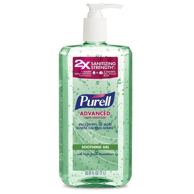 PURELL Advanced Hand Sanitizer Soothing Gel with Aloe and Vitamin E - 33.8 fl oz