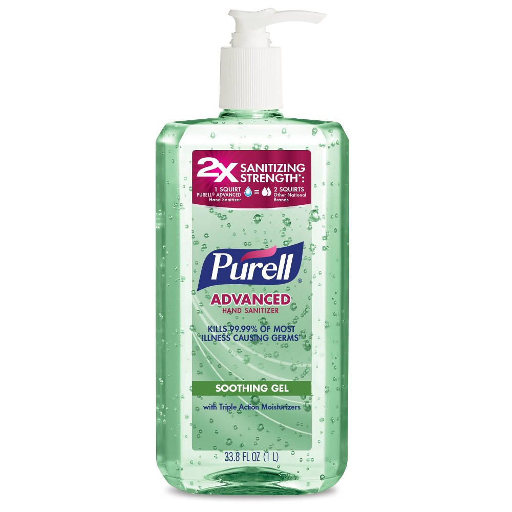 Image of PURELL Advanced Hand Sanitizer Soothing Gel with Aloe and Vitamin E - 33.8 fl oz