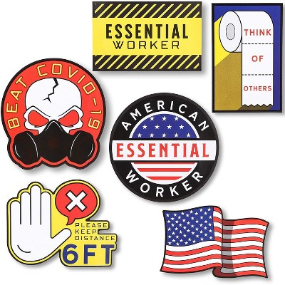 24-Count Essential Worker Stickers, Waterproof Removable Vinyl Decal for Car, Laptop & Folder