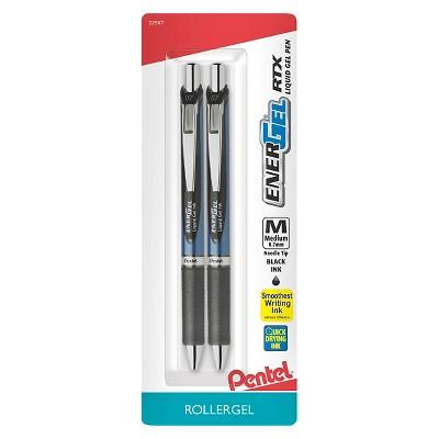Pentel® Energel® Rollergel Pens, 0.7mm, 2ct - Black