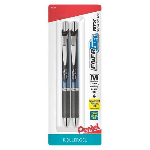 Pentel Energel Rollergel Pens, 0.7mm, 2ct - Black - image 1 of 4