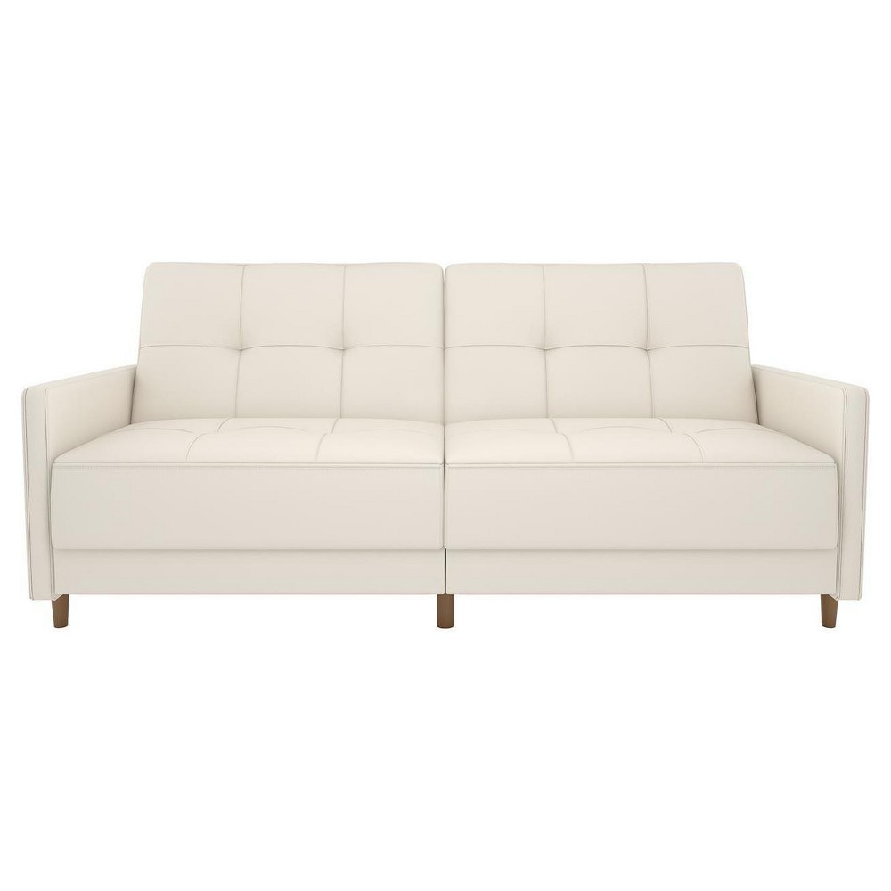Image of Andora Coil Futon White Faux Leather - Dorel Home Products