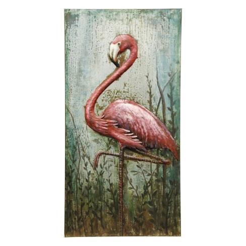 47 Three Dimensional Metal Flamingo Hand Made Target