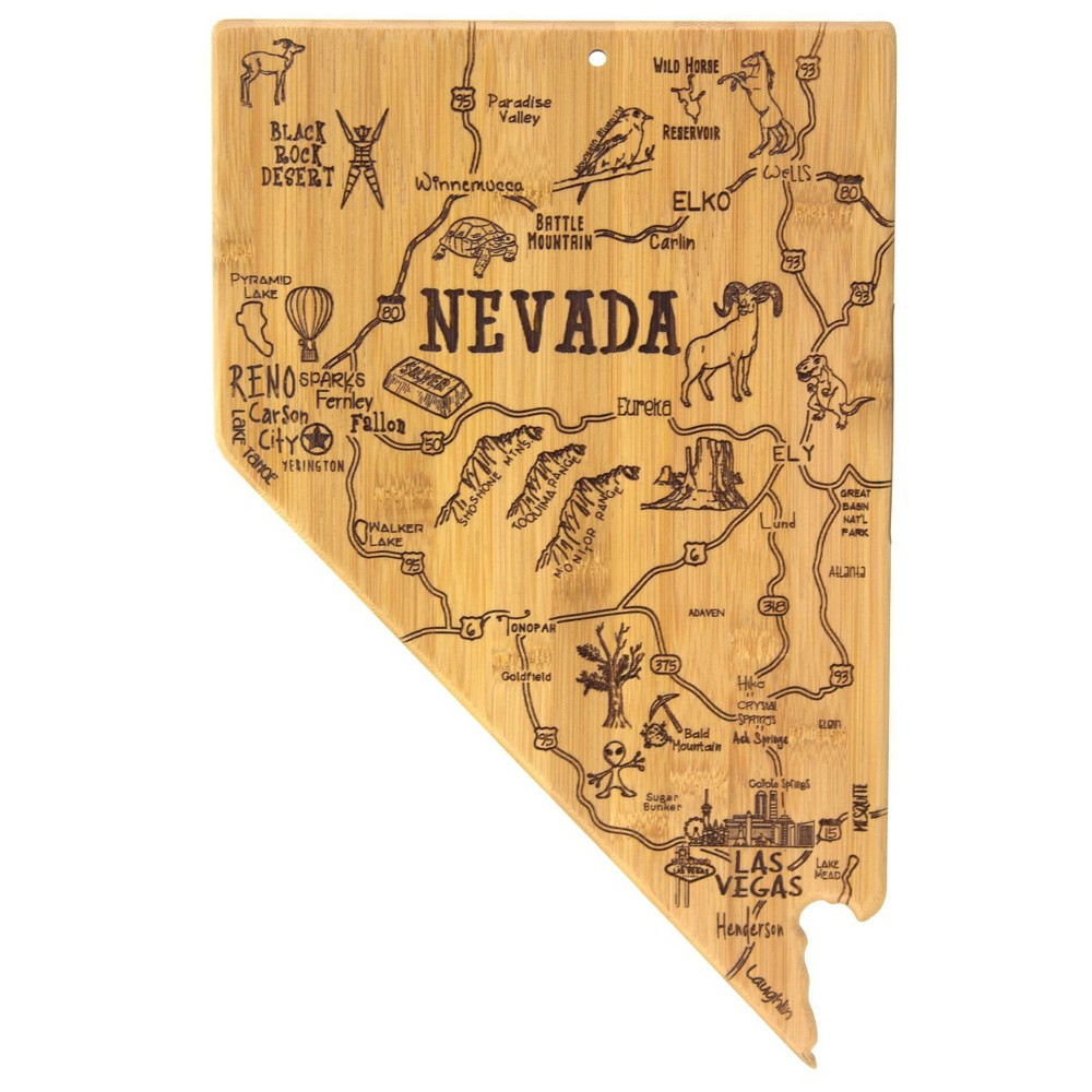 Top Totally Bamboo Destination Nevada Serving and Cutting Board