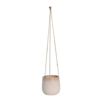 "6"" Hanging Ceramic Planter Beige - Sagebrook Home"