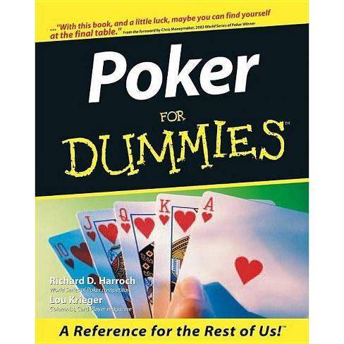 Poker for Dummies - (For Dummies) by  Richard D Harroch & Lou Krieger (Paperback) - image 1 of 1