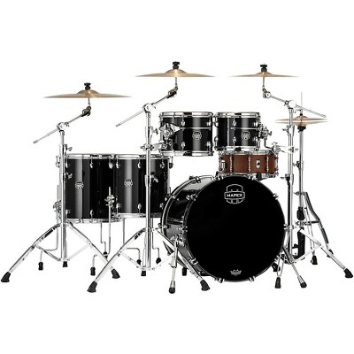 Mapex Saturn Evolution Workhorse Maple 5-Piece Shell Pack With 22 in. Bass Drum Piano Black