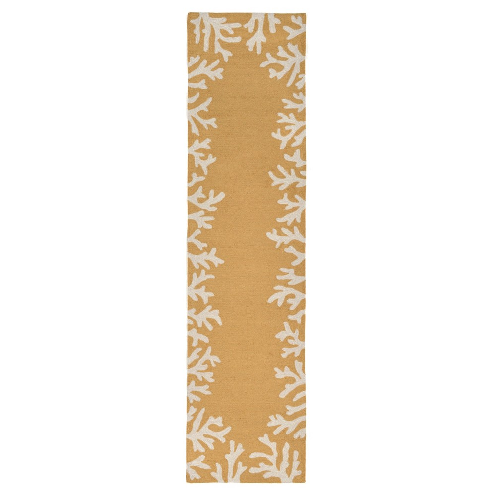 Yellow Abstract Tufted Runner - (2'x8') - Liora Manne