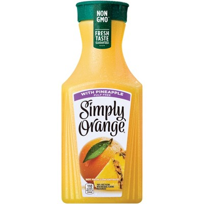 Simply Orange with Pineapple Juice Blend - 52 fl oz