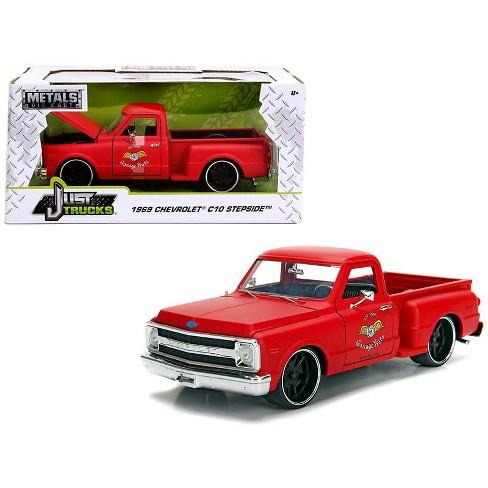 1969 Chevrolet C10 Stepside Pickup Truck Matt Red Garage Nuts