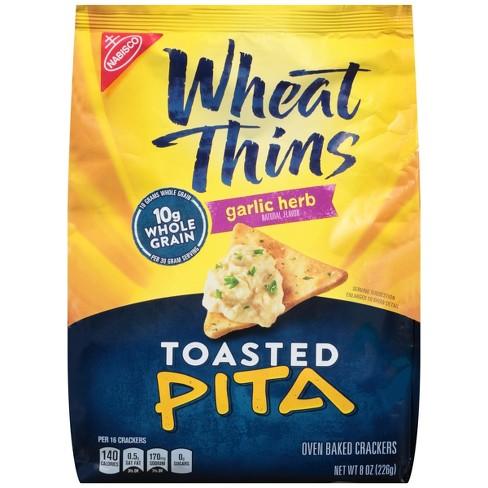 Wheat Thins Garlic Herb Toasted Pita Chips - 8oz - image 1 of 3