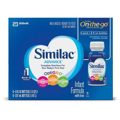 Similac Advance Infant Formula with Iron On-the-Go - 8oz/6ct