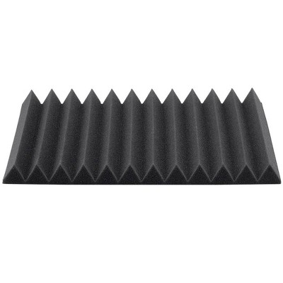 Monoprice Studio Wedges Acoustic Foam Panels (12-pack) 1in x 12in x 12in Fire-Retardant, Easy To Install - Stage Right Series