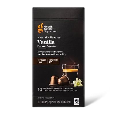 Signature Naturally Flavored Vanilla Espresso Pods Espresso Roast Coffee - 10ct - Good & Gather™