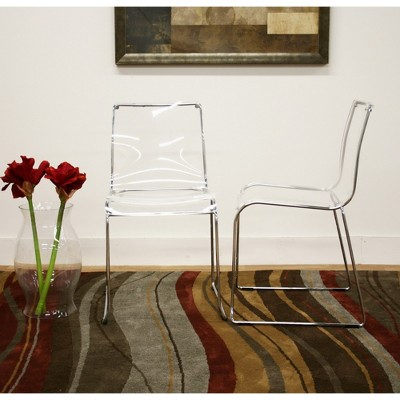 Lino Transparent Acrylic Dining Chair - Clear (Set Of 2) - Baxton Studio : Target