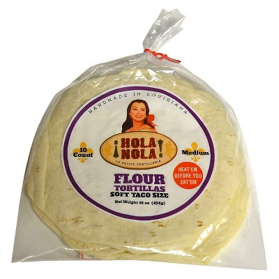 Hola Nola Taco Size Flour Tortillas - 16oz/10ct