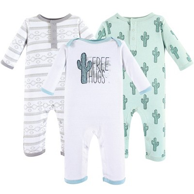 Yoga Sprout Baby Cotton Coveralls 3pk, Free Hugs