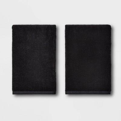 2pk Bath Towel Set Black - Room Essentials™