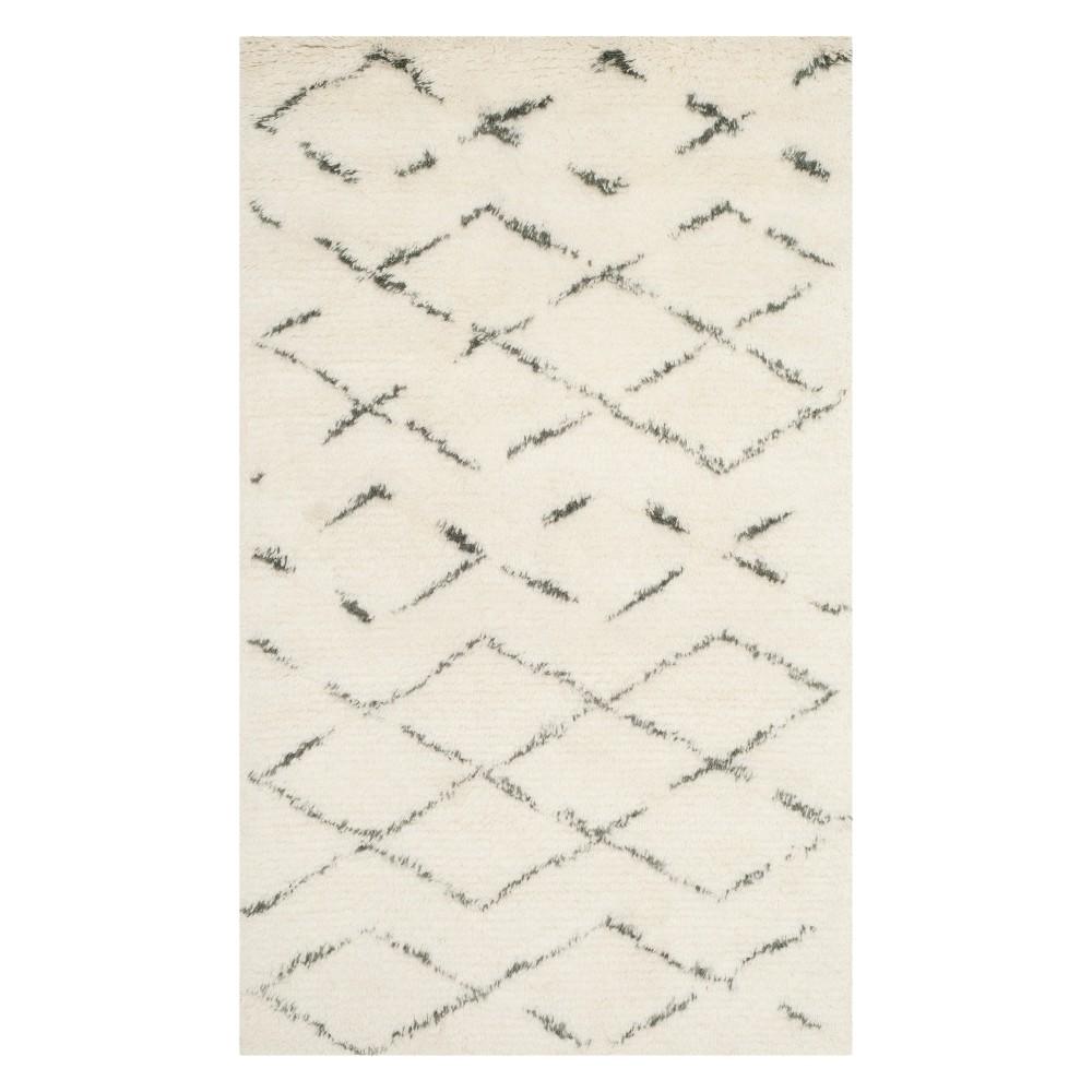 3'X5' Geometric Accent Rug Ivory/Gray - Safavieh