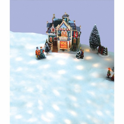 Christmas Village Display.Northlight 48 8 Function Led Snow Blanket For Christmas Village Display