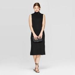 Women's Sleeveless Turtleneck Rib Knit Midi Dress - A New Day™
