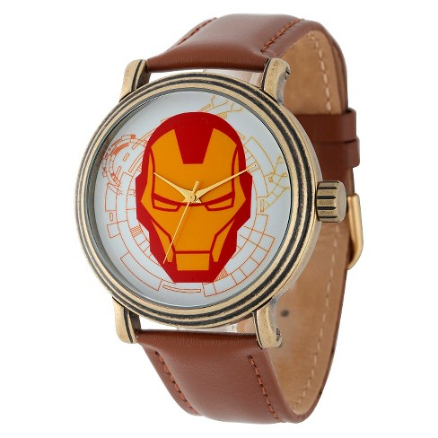 Men's Marvel Iron Man Vintage Antique with Alloy Case - Brown - image 1 of 2