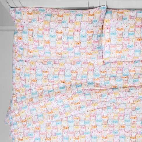 Toddler Who's Who Flannel Sheet Set - Pillowfort™ - image 1 of 4