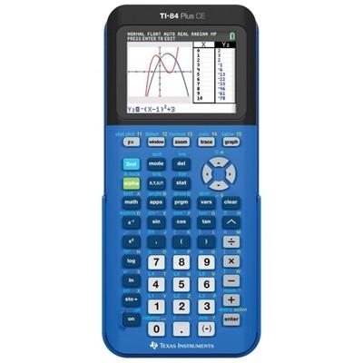Texas Instruments 84 Plus CE Calculator - Blue