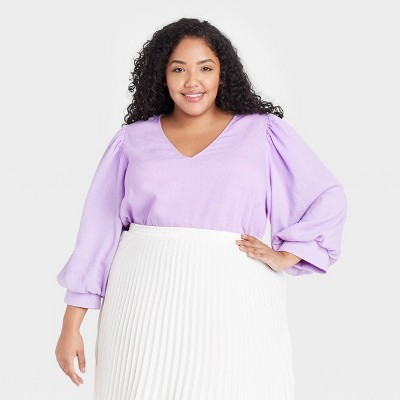 Women's 3/4 Sleeve Voile Top - A New Day™