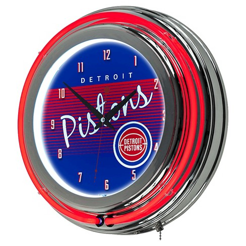 Detroit Pistons Team Logo Wall Clock - image 1 of 1