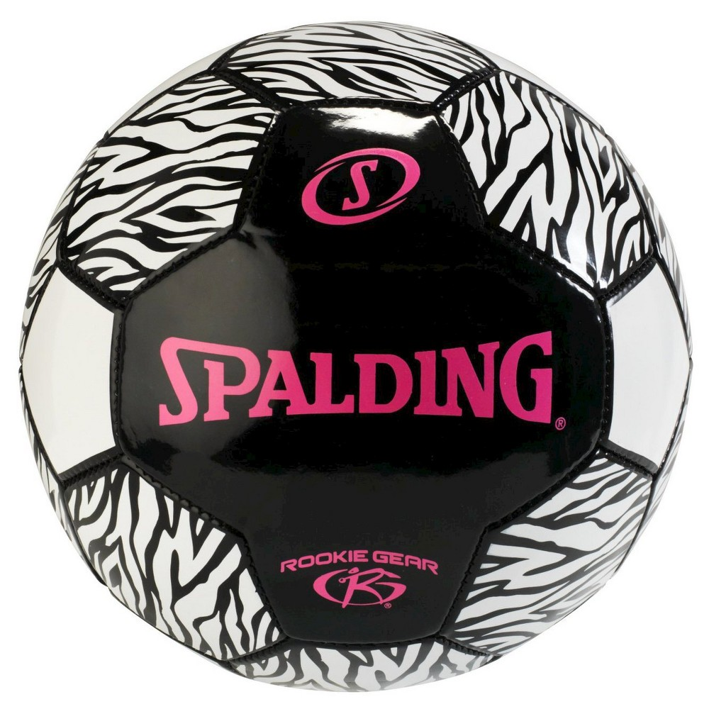 Spalding Rookie Gear Soccer - Pink/Black (size 3), Multi-Colored