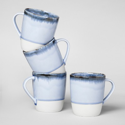 Valetta Porcelain Mugs 11oz Blue - Set of 4 - Project 62™