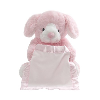 G by GUND Peek A Boo Pup Bunny - Pink