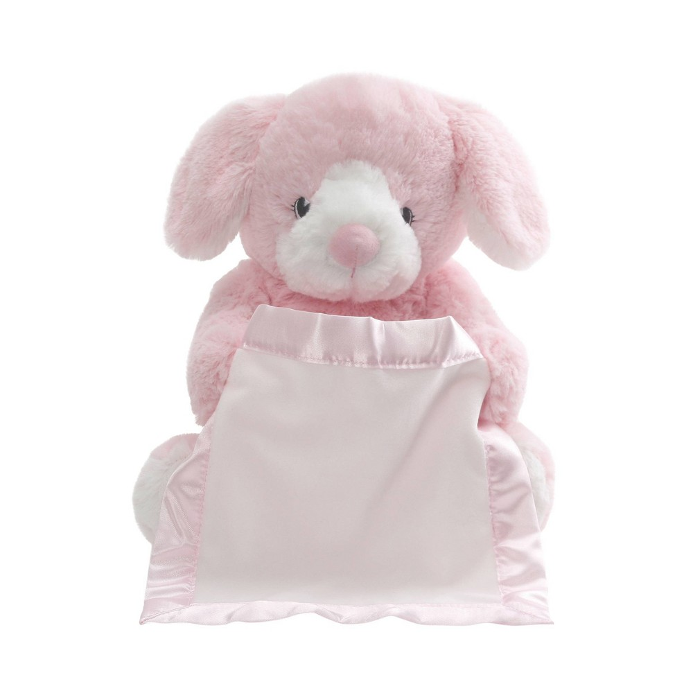 Image of G by GUND Peek A Boo Pup Bunny - Pink